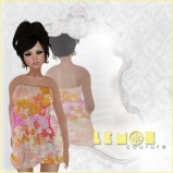 {lc} Bubble Dress - Splatter
